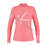 Langärmliges T-Shirt SHADE PLUSH W LS HIKO - Rosa