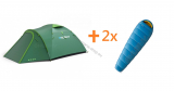 Zelt OUTDOOR BIZON 3 PLUS + 2x Schlafsack HUSKY