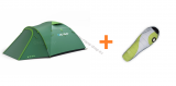 Zelt OUTDOOR BIZON 4 PLUS + Schlafsack APOLLO