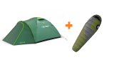 Zelt OUTDOOR BIZON 4 PLUS + Schlafsack AURUS
