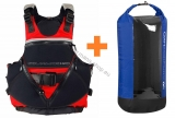 Schwimmweste SALTY DOG + Trockensack WINDOW Volum 40l HIKO gratis