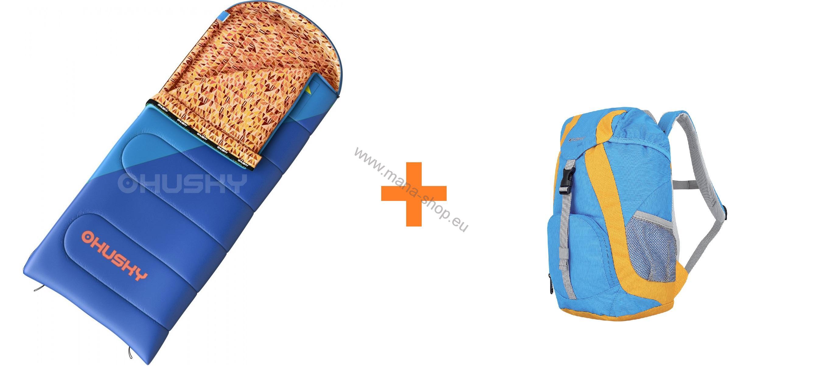 23a0c9fbcd Schlafsack Outdoor KIDS MILEN -5°C HUSKY + Kinderrucksack SWEETY 6 l gratis