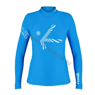 Langärmliges T-Shirt SHADE PLUSH W LS HIKO - blau