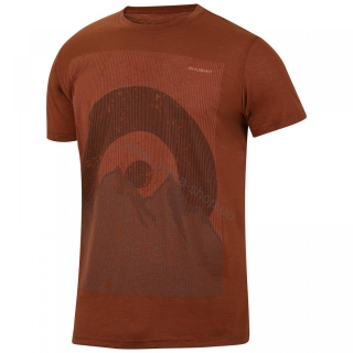 Herren T-Shirt TINGL NEW HUSKY braun-orange