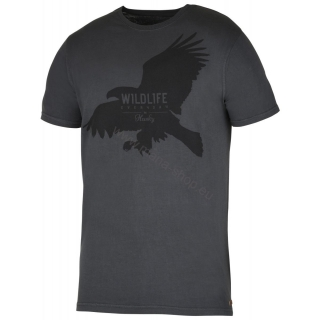 Herren T-Shirt Eagle NEW HUSKY schwarz