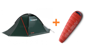 Zelt Extreme FALCON 2 + Schlafsack RUBY -14°C